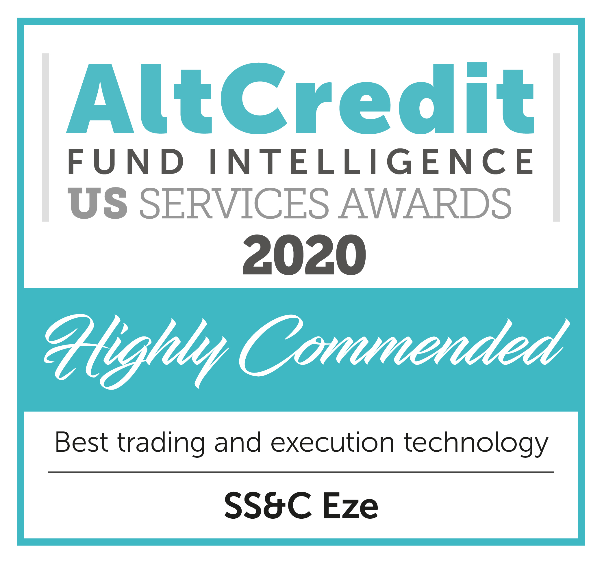 Alt Credit Fund Intelligence US Service Awards 2020