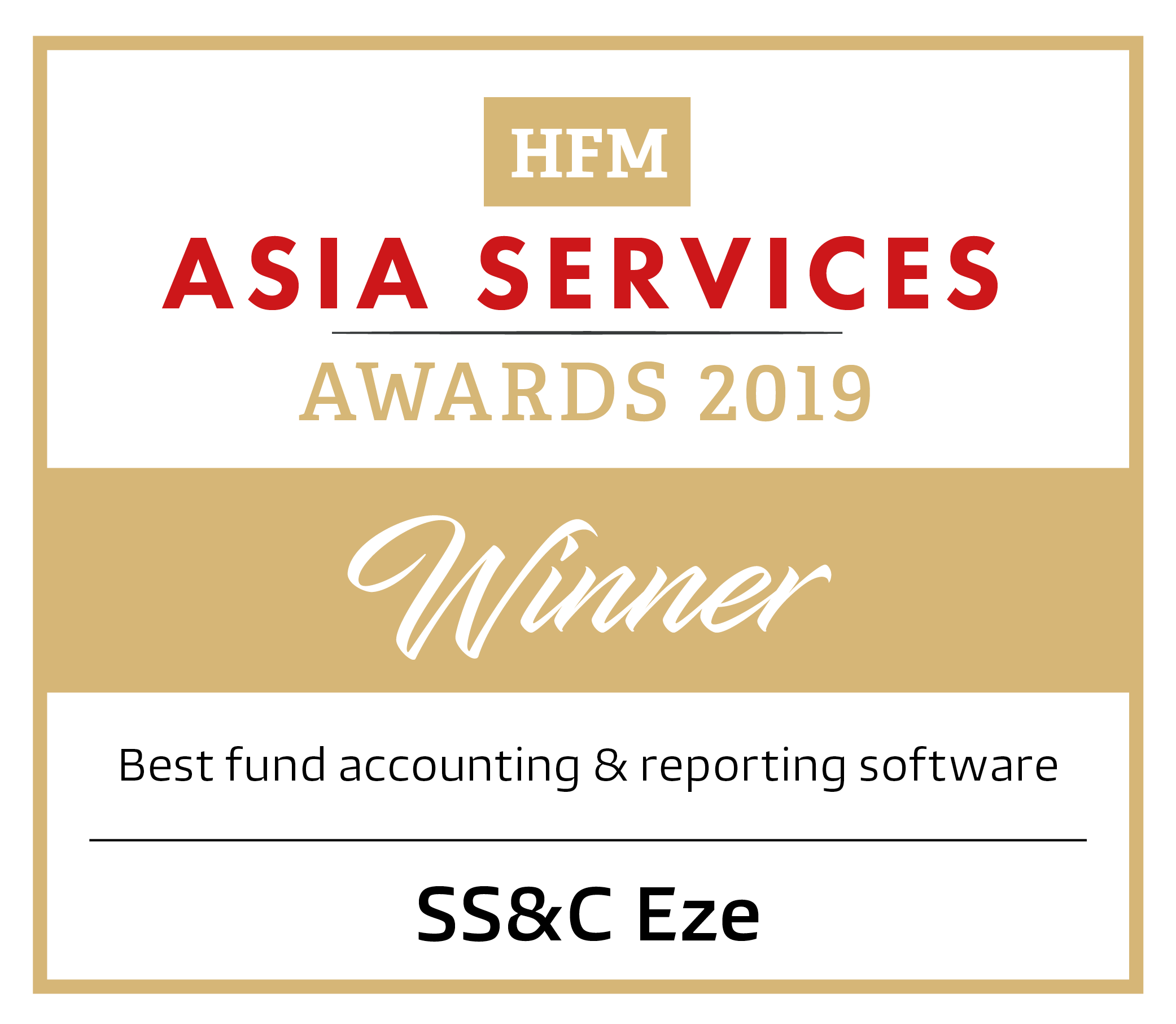Best Fund Accounting and Reporting Software - HFM Asia Services Awards 2019