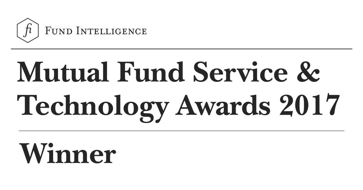 Fund Intelligence Mutual Fund Services & Technology Awards